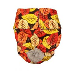Fall Leaves Washable Cat Diaper