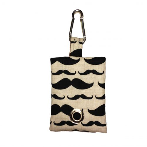 mustache poop bag dispenser