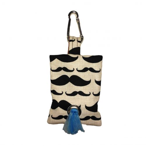 mustache poop bag dispenser - front