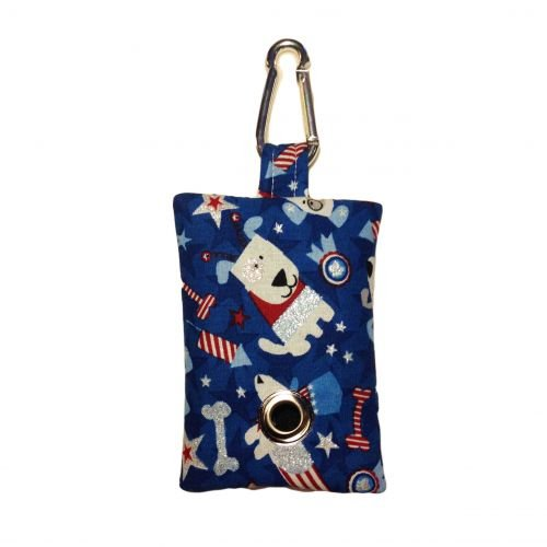 patriotic doggie poop bag dispenser