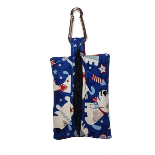 patriotic doggie poop bag dispenser - back