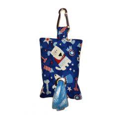 Patriotic Doggie Dog Poop Bag Dispenser