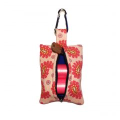Pink Paisley Dog Poop Bag Dispenser