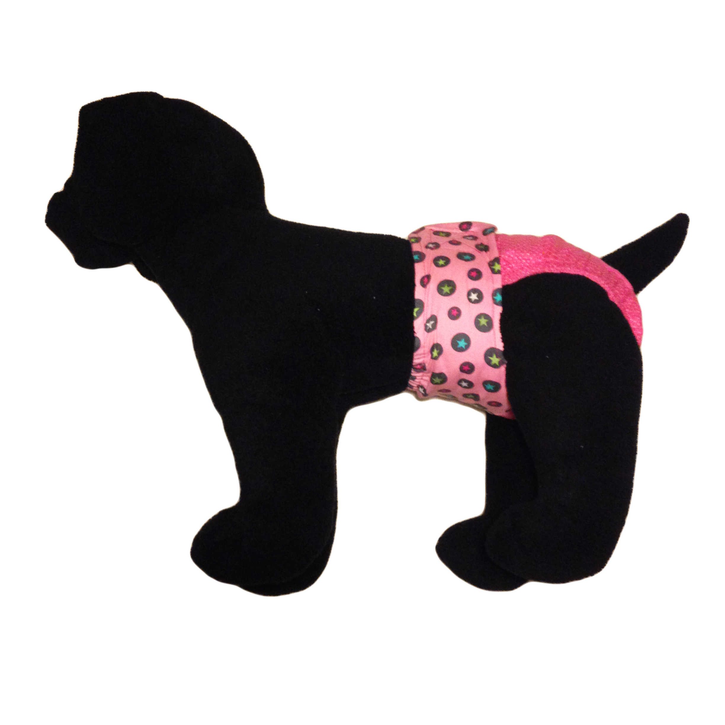 Barkertime Star Circles On Pink Polka Dot Washable Dog Diaper