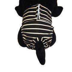 White Stripes on Black Washable Cat Diaper