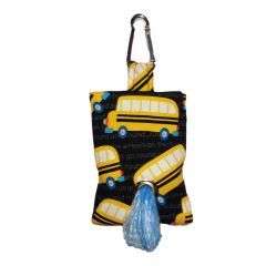 Yellow School Bus Dog Poop Bag Dispenser
