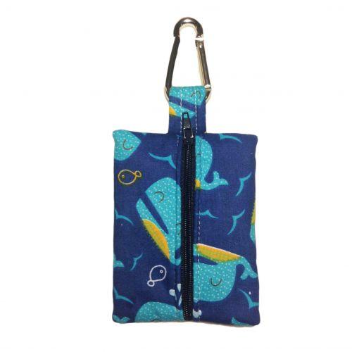 blue whale poop bag dispenser - back
