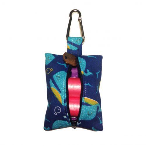 blue whale poop bag dispenser - back open