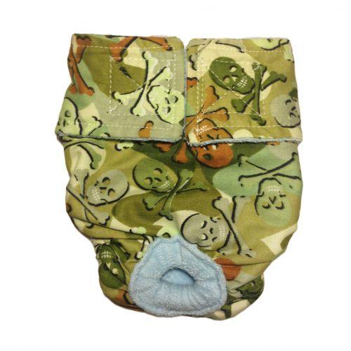 camo skulls diaper