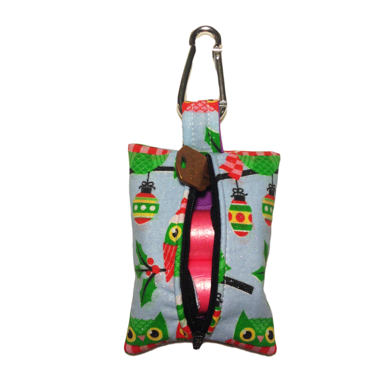 Owl With Glitter Dog Poop Bag Dispenser Barkertime