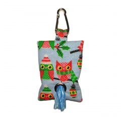 Owl with Glitter Dog Poop Bag Dispenser