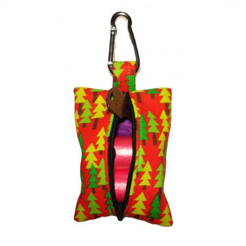 christmas tree poop bag dispenser - back open