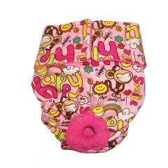 Happy Smile Monkey Washable Dog Diaper