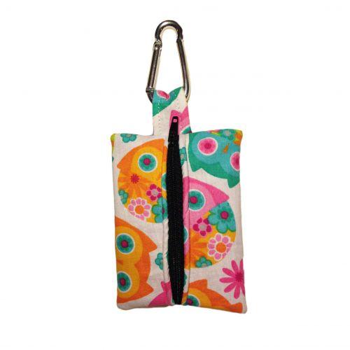 pink owl poop bag dispenser - back