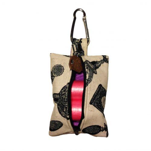 royal perfume dog poop bag dispenser - back open
