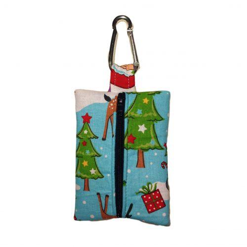 santa claus poop bag dispenser - back