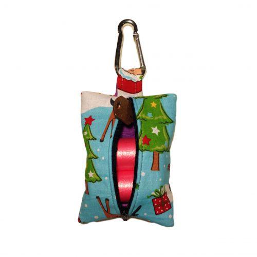 santa claus poop bag dispenser - back open