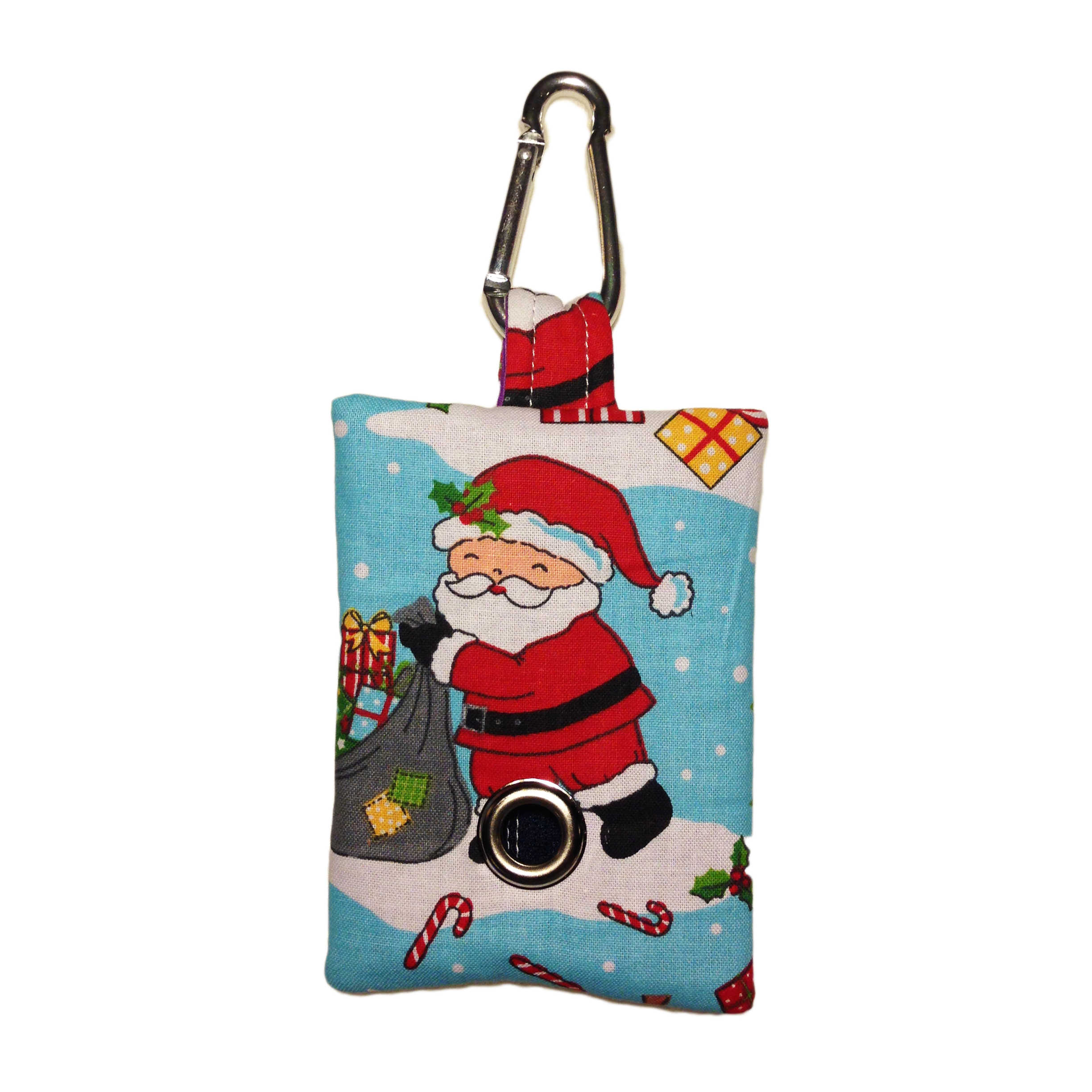 Christmas santa claus dog poop bag dispenser barkertime