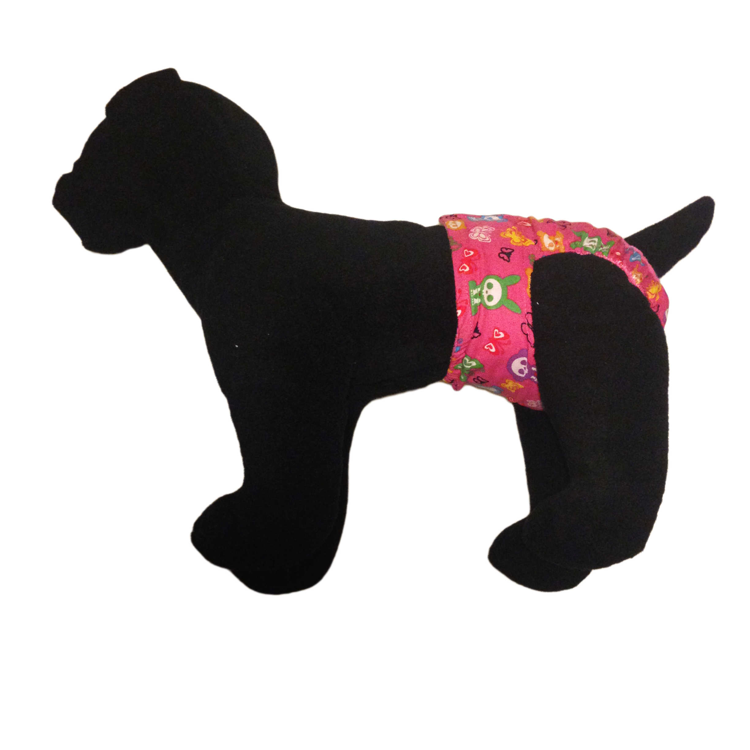 Barkertime Skeleton Figures On Pink Washable Dog Diaper