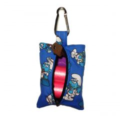 Dog Poop Bag Dispenser made from Smurf fabric