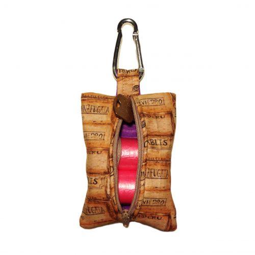 wine lovers poop bag dispenser - back open