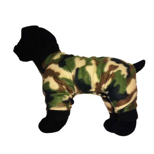 camo dog pajama - model 1