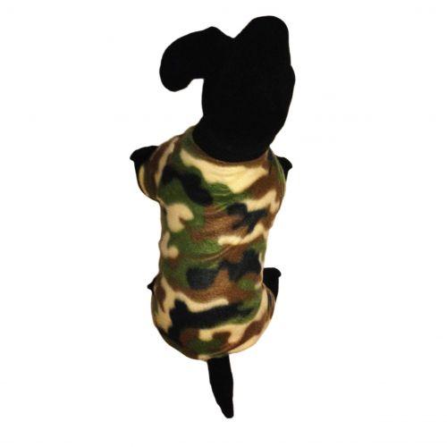 camo dog pajama - model 2