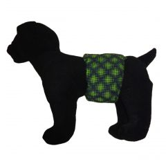 Green Double Dots Water-Resistant Washable Dog Belly Band Male Wrap