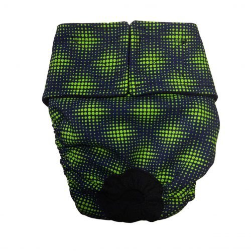 green double dots diaper