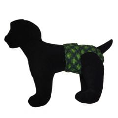 Green Double Dots Water-Resistant Washable Dog Diaper