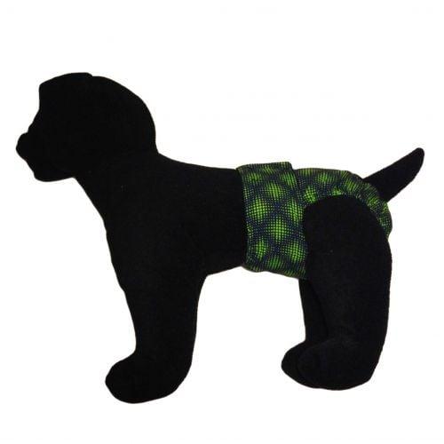 green double dots diaper - model 1