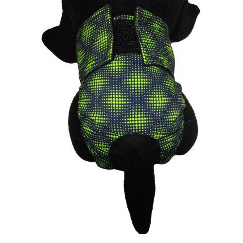 green double dots diaper - model 2
