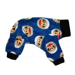 Dog Pajama made from Julius Monkey Astronaut fabric