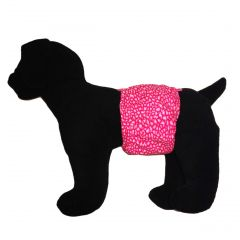 Pink Leopard Water-Resistant Washable Dog Belly Band Male Wrap