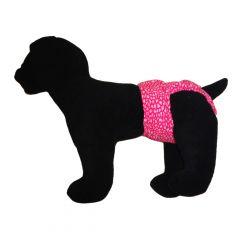 Pink Leopard Washable Dog Diaper