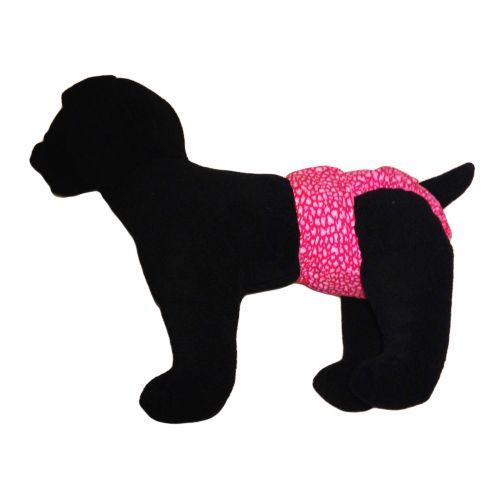 pink leopard diaper - model 1