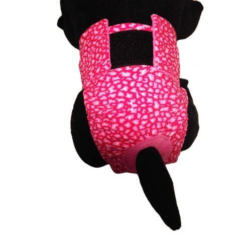 pink leopard diaper - model 2