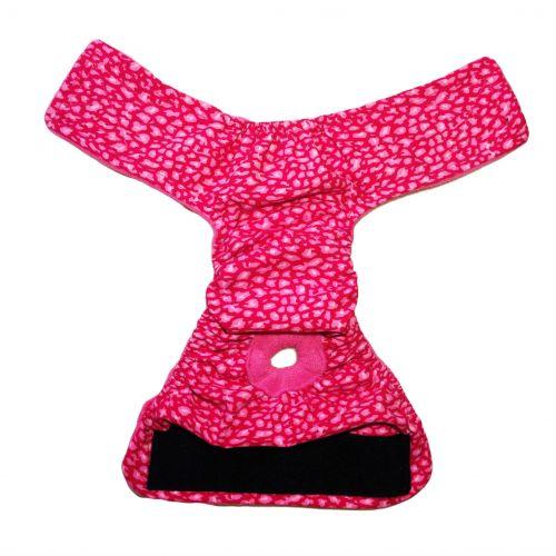 pink leopard diaper - open