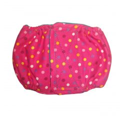 Colorful Polka Dot on Pink Washable Dog Belly Band Male Wrap