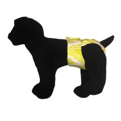 Lime Green Pattern Washable Dog Diaper