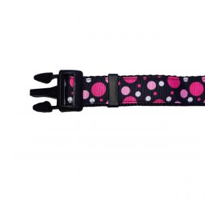 Pink and White Dots Dog Collar