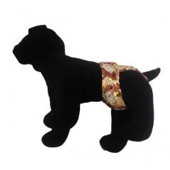 Brown Doggie with Bones Washable Dog Diaper
