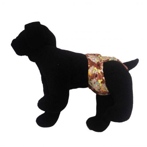 brown doggie with bones diaper - model 1