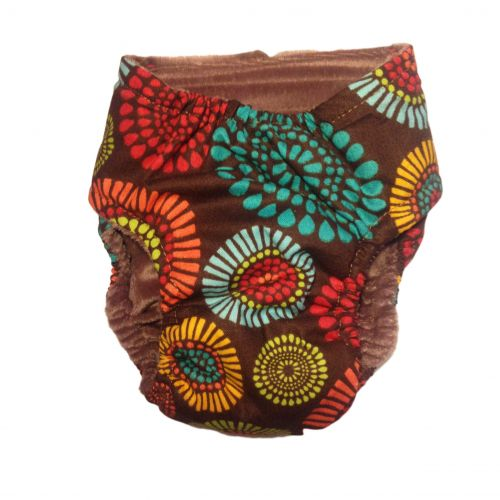 fireworks on brown diaper - back