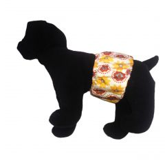 Forever Flower on White Washable Dog Belly Band Male Wrap