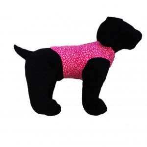 Pink Leopard Dog Harness Vest