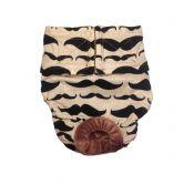 Mustache Washable Cat Diaper