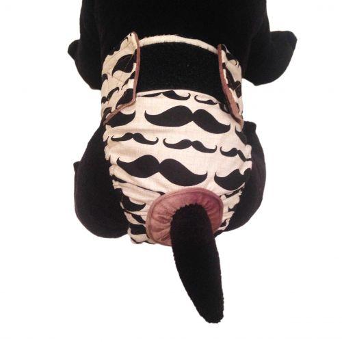 mustache diaper - model 2