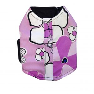 Purple Hibiscus Dog Harness Vest