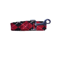 Red Argyle Dog Leash